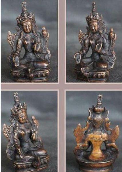 Cobre de Bronze CHINÊS artesanato decoração Tibet Bronze Budismo Ayutthaya Sexual genitália pingente Buda Bowl Stat