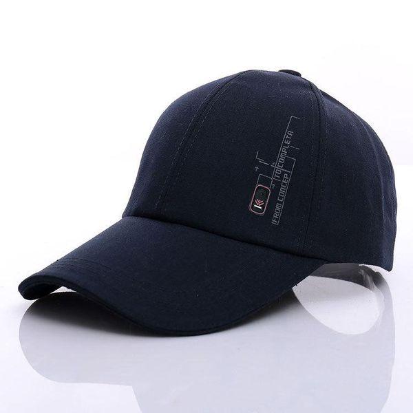 Spring summer Korean men's baseball cap badge sun hat outdoor visor hat cotton canvas hat