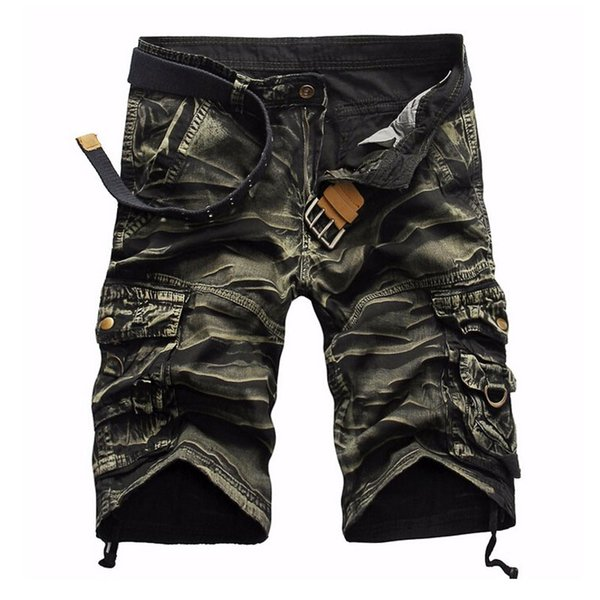 shorts man 2018 brand fashion mens bermuda short men homme cargo shorts, White;black