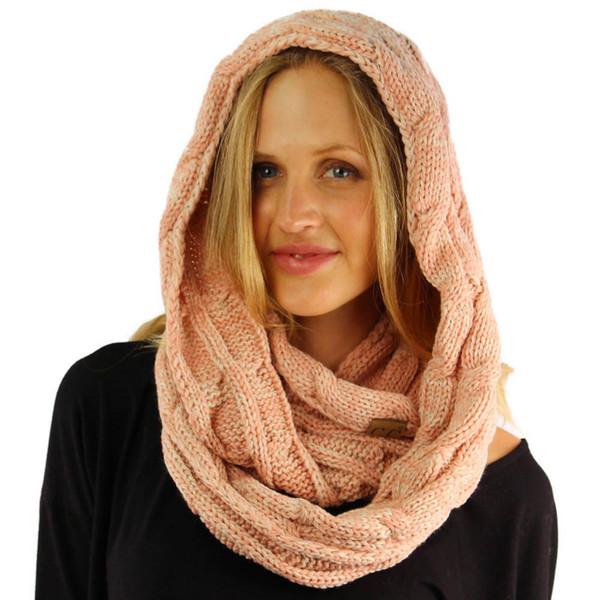 Heißer Verkauf CC Schals 8 verschiedene feste Farbe Mädchen Ring Schal Frauen Mode stricken häkeln Schalldämpfer
