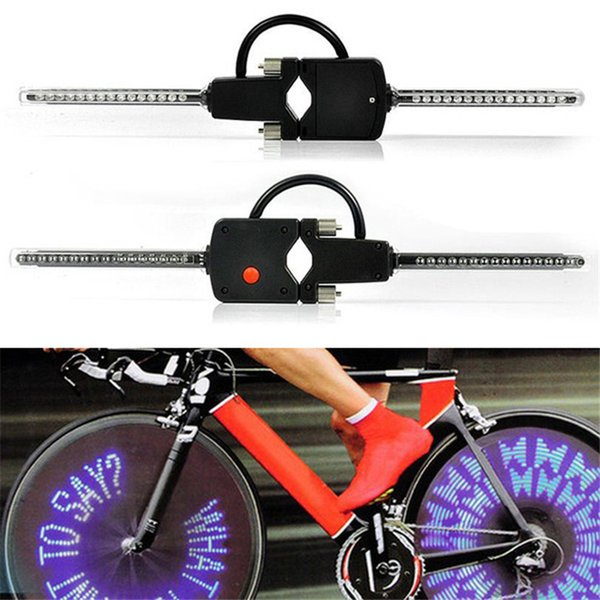 Computer Programmable bicycle wheel light Wireless LED Custom Message Bike Cycle Motor Wheel Lights A30