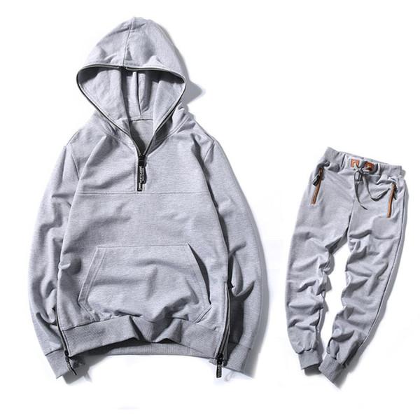 2018 Spring Casual Men's Hoodies Tracksuit Sets Men Sportswear Sweatshirt Male Autumn Winter Tracksuit Mans Leisure Outwear XXXL