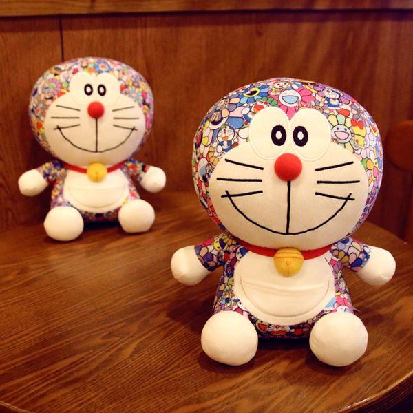Nuevo 25 CM juguete de dibujos animados japoneses Doraemon Cat Doll Machine Cat Doll Viking de gran tamaño juguetes de peluche de Halloween regalo de Navidad juguete