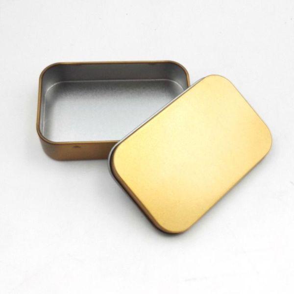 Teneke Kutu Boş Gümüş Altın Metal Saklama Kutusu Kasa Konteyner Organizatör Para Para Şeker Tuşları Için U disk kulaklıklar hediye kutusu