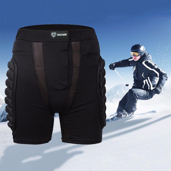 SULAITE Black Motocross Shorts Skateboard Body Armor Snowboard Skiing Racing Motorcycle Skating Sports Protective Gear Hip EVA Pad