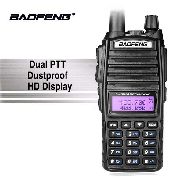 Baofeng UV-82 Dual PTT Walkie Talkie 10km Portable UV 82 Two Way Radio Amador VHF UHF Transceiver UV82 Hunting CB Radio Station