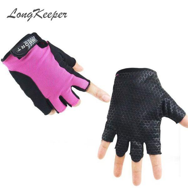 Guanti sportivi antinfortunistici della bicicletta di modo di LongKeeper dei guanti di sport di estate dei guanti semi-barretta casuali della bicicletta Trasporto libero