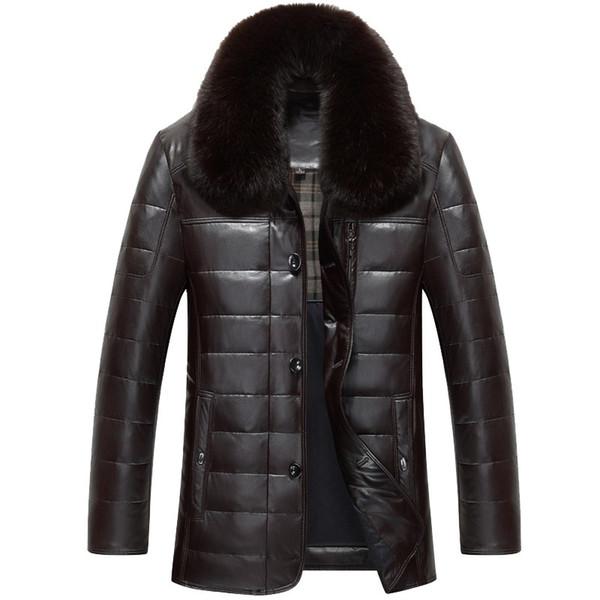 1302 Manteaux Down Coat161 9 Manteau En Mouton Homme D'hiver De Cuir Acheter Du Duck Hiver 90Blanc Hommes Veste E9YW2IDH