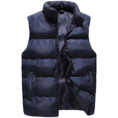 2017 New Winter Men Vest Cotton Padded Thicken Thermal Outwear Casual Vest Waistcoats For Men Jacket Sleeveless Plus Size M-3XL