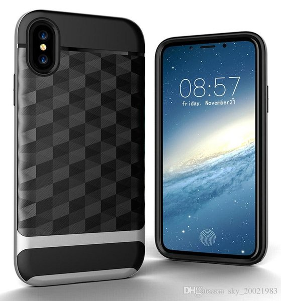 New Iphone XS 3D Prism shockproof case Iphone XR funda dual layer rugged hybrid armor cover for iphone X