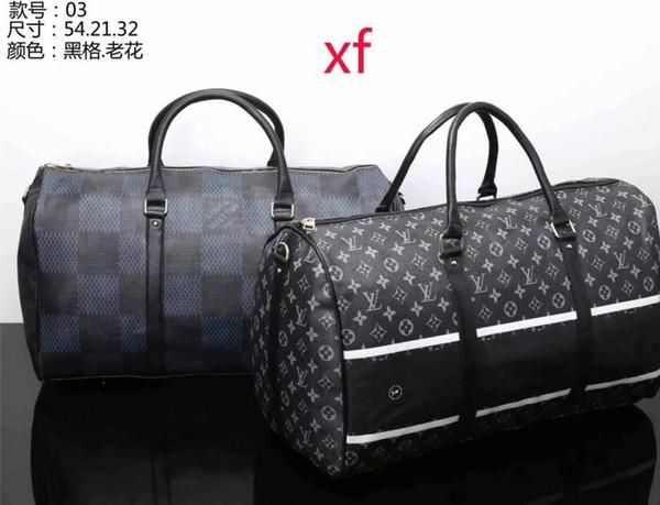 2018 nuova moda uomo donna borsa da viaggio borsa da viaggio, borse di marca bagaglio del progettista di grande capacità borsa sportiva 54X21X32 CM