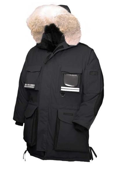 Men's Down Parkas Goose Goose Men's Snow Mantra Parka Long Detachable Down Jacket Breathable 90% White Goose Down Fashion Hooded Warm Jacket