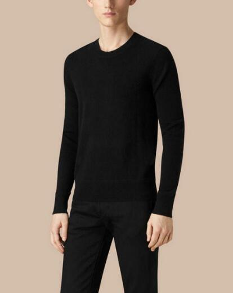Online London Brit Sweater Pullover Hombres 2018 Marca masculina Suéteres casuales Hombres Soild Color Clásico O-cuello Hombres prendas de punto Negro Gris