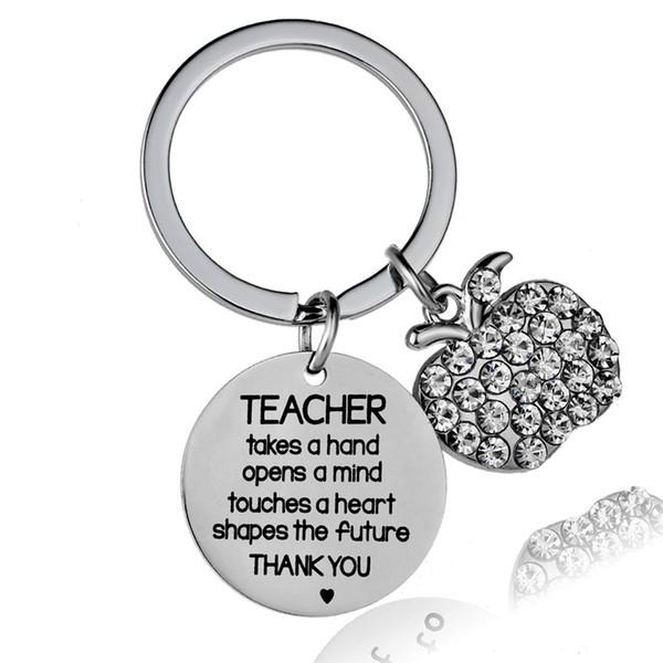 Lehrer nimmt eine Hand öffnet einen Geist berührt Herzformen die Zukunft Schlüsselbund Edelstahl Lehrer Schlüsselanhänger Schlüsselanhänger Geschenk