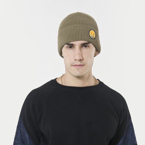 New wool hat autumn and winter women men Korean funny face knit hat outdoor thickening plus velvet head cap