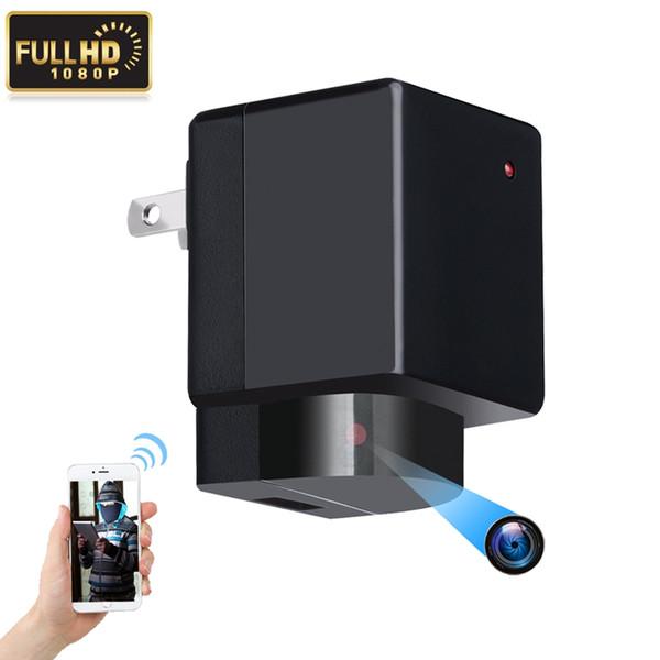 Wifi USB Şarj Kamera Y9 mini P2P IP Kamera Yok delik HD 1080 P AC adaptör Tak Kamera Video Kaydedici ev güvenlik kamera