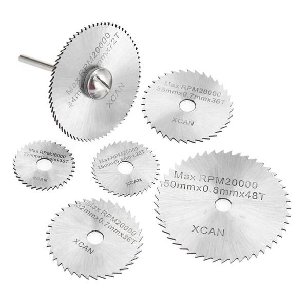 SET Accesorios Dremel para herramientas de disco de corte de madera Herramientas rotativas para herramientas el/éctricas Dremel Juego de hojas de sierra circular 7PCS Plata