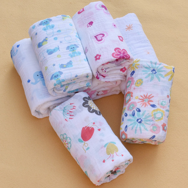 Doublure en mousseline de bébé nouveau-né langes de couverture infantile coton Swaddle serviette bébé langes pour nouveau-né bébé couverture120x120cm