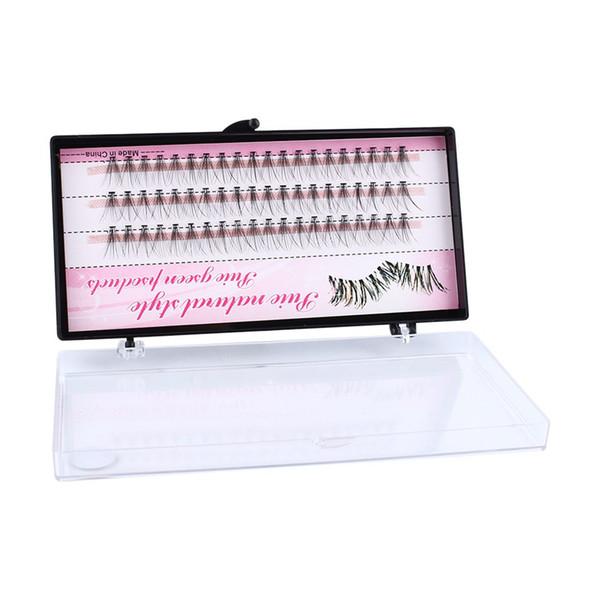Hot 8/10/12mm 60 Bundle/Set False EyeLashes Extension Kits Individual Cluster Natural Long Grafted Fake Eyelashes Beauty Makeup Tool