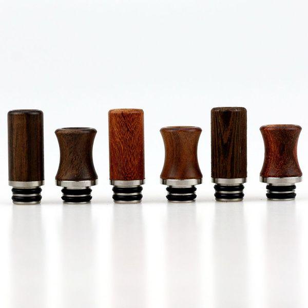 Wooden Drip Tip Head Wooden Round Mouthpiece For EGO Atomizer 510 series DCT Vivi Nova Cartomizers