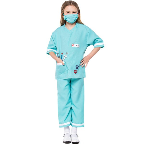 New Children Vet Doctor Suit Costumes Cosplay For Boys Girls Halloween Party Game Costume Cosplay