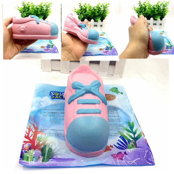 PU Squishy Kawaii Shoes Dancing Shoes Slow Rising Soft Jumbo Squeeze Phone Charms Decompression Toys Gift AAA241