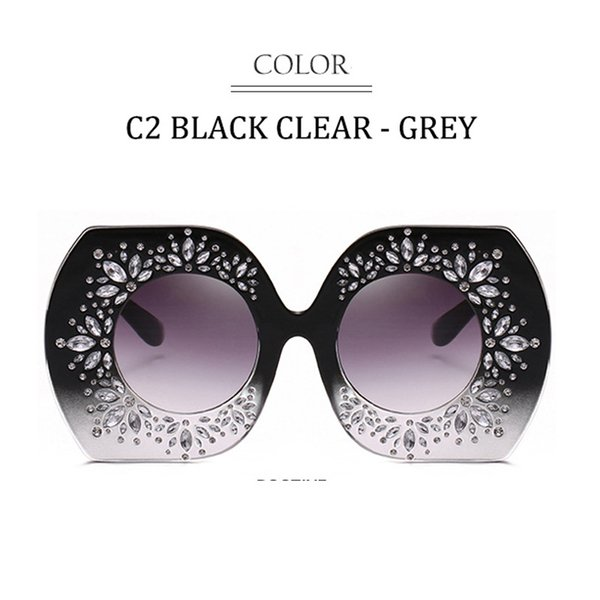 C2 Schwarz Klar Rahmen Verlaufsglas Grau