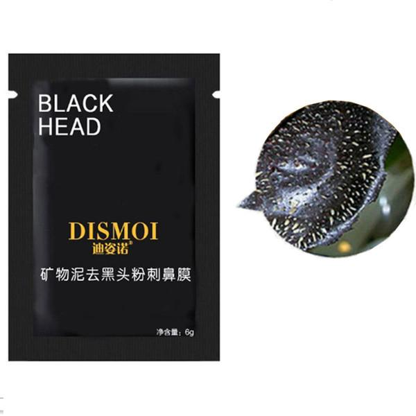 Livraison gratuite 6g de boue minérale comédons d'aspiration peler hors masque nasal nettoyage en profondeur pore strip noir masque de suppression