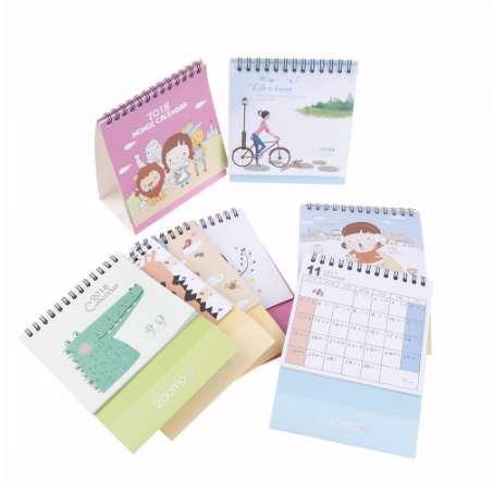 best selling 1PCS Cute Cartoon Small Crocodile Desk Paper Calendar 2018 Year Calendar Table Planner Agenda Organizer To Do List