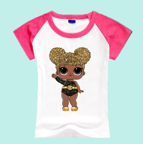 Custom-made 67723 Children Cartoon lol dolls T-Shirts Kids Summer Baby Clothes BHYCJ234