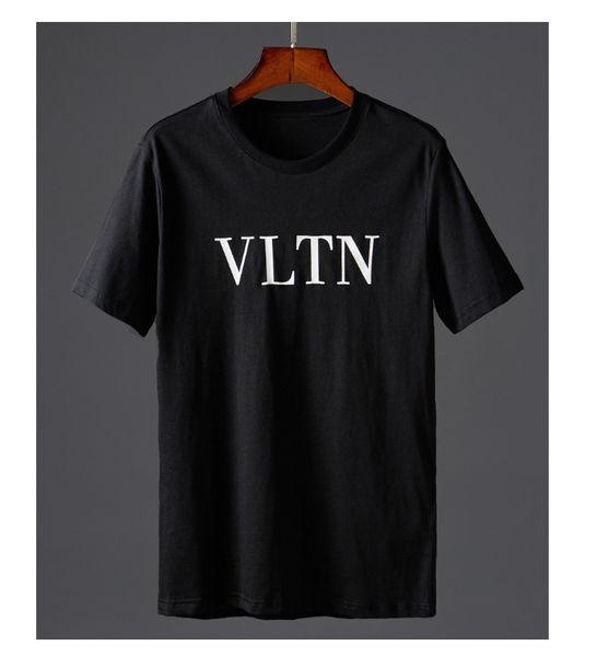 Design New Letters Printing T-shirt Black White Colors Couples Tee Men Women Fashion Hip Hop Tops Summer Wear