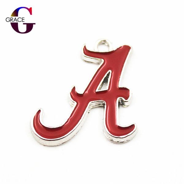 20 adet / grup NCAA Alabama Takımı Spor Takılar Kadınlar Için Asma Dangle Yüzer Charms Bilezik Kolye Kolye DIY Takı