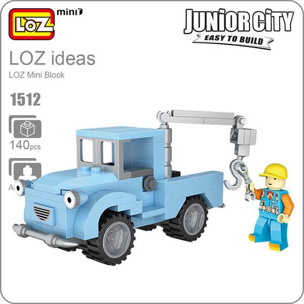LOZ Blocks Diamond Engineer Mini Truck Micro Building Blocks Figures Cartoon Mini Plastic Assembly Toys Small Blocks Toy 1512