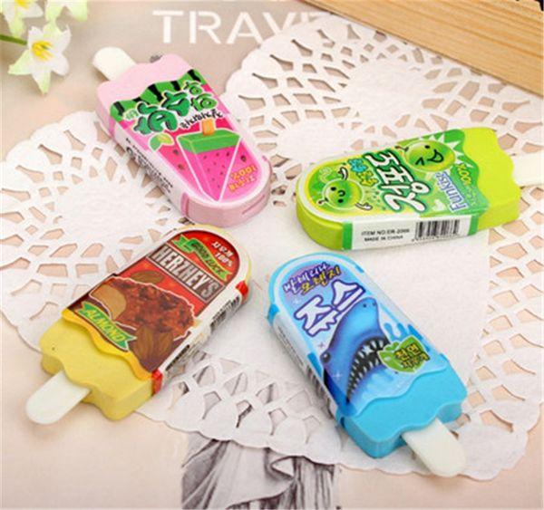 Cute Kawaii Creative Popsicle Rubber Eraser For Pencils Kids Gift Novelty.School