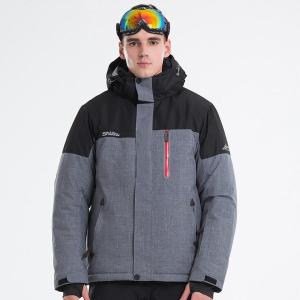 2018 New Men ski Jackets Brands Outdoor Warm Snowboard Jacket Coat Male Waterproof Skiing Snow Jacket Man Sportswear Hooded Winter Clothes