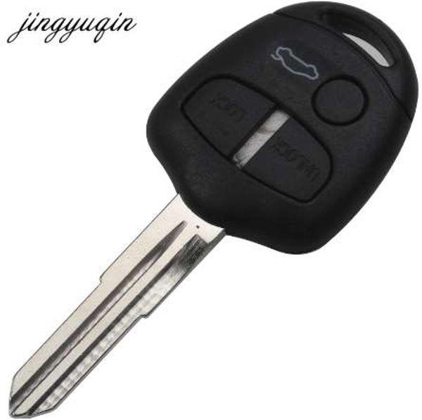 jingyuqin 3 Button Remote Car Key Shell Case For Mitsubishi Lancer Outlander Uncut Blade Fob