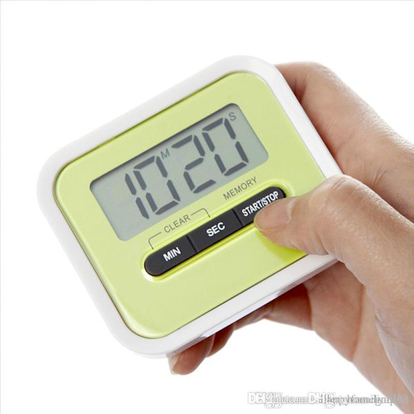 LCD Digital Timer Kitchen Cooking Countdown LCD Display Timer/Clock Alarm With Magnet Stand Clip With Retail Package 17090210