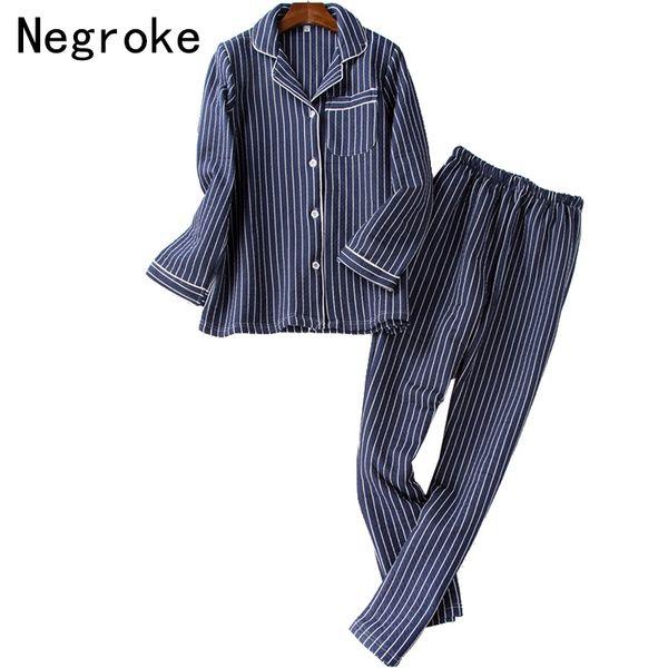Striped Pajamas For Men Winter Cotton Home Clothes High Quality 2 Pcs Male Pyjama Set Pijama Hombre Night Wear Sleepwear Suit
