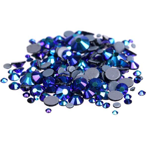 Hot Sale A++ Grade Quality jet black AB Glass Crystals Strass Stones Hotfix Rhinestones For clothing Garment Accessorie