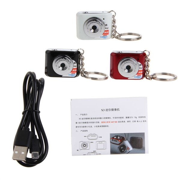 Red Black 180mAh Lithium Polymer Battery Camcorder Web Camera Tiny Keychain Pocket Toy mini charger usb camera