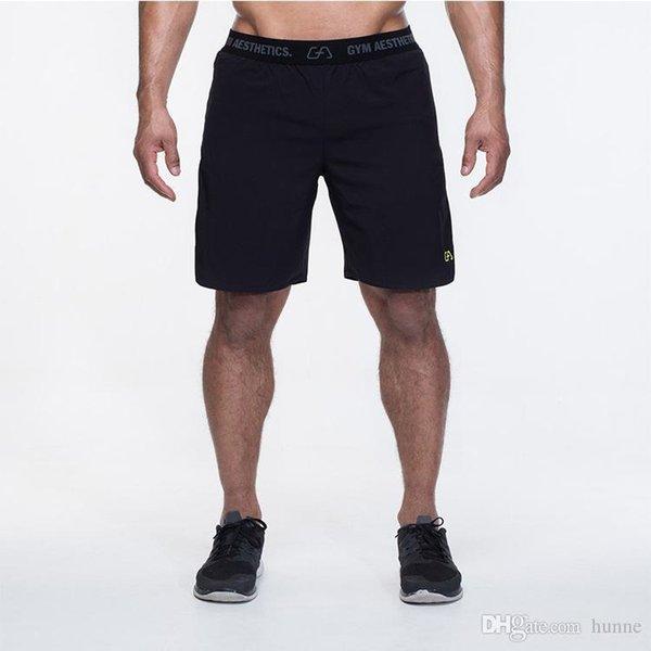 Оптовая продажа-Muscleguys Марка спортивные залы одежда Мужские шорты 2017  летняя мода повседневная твердые фитнес 854ce07b265