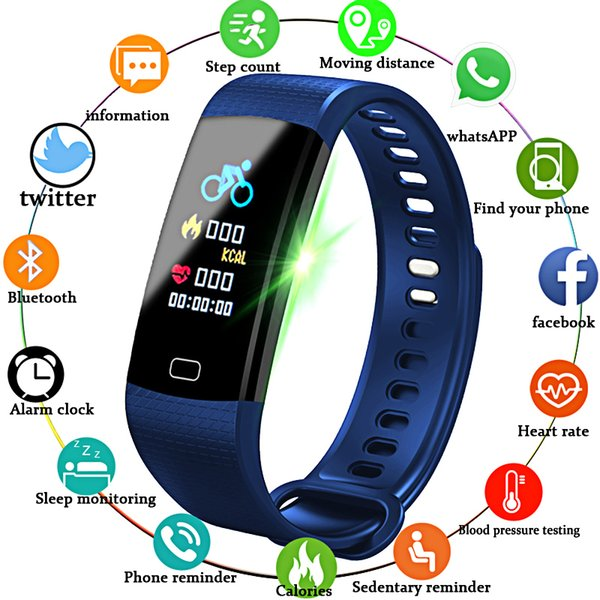 NEW Smart Bracelet Electronic Smart Watch Women Men Running Cycling Climbing Sports Health Pedometer LED Color Screen Watch