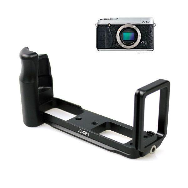 CNC Metal Camera Tripod Head Quick Release Plate L-Plate Hand Grip 1/4 Screw Mount for Fuji X-E1 X-E2 Mirrorless Camera