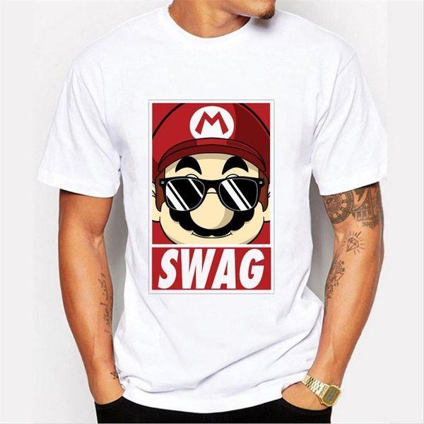 Asian Size fashion super mario men t-shirt short sleeve casual funny tee cute Minions cartoon printed hipster tops