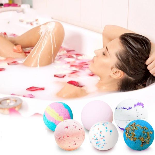 Deep Sea Bath Salt Body Essential Oil Bath Ball Natural Bubble Bath Bombs Ball Sakura Cream lavender Milk