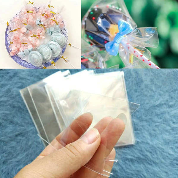 Transparent Plastic Bags Candy Bar Wedding Party Favors Baby Shower Girl Boy Wrapping Supplies Lollipop Cookie Small Gift Bags