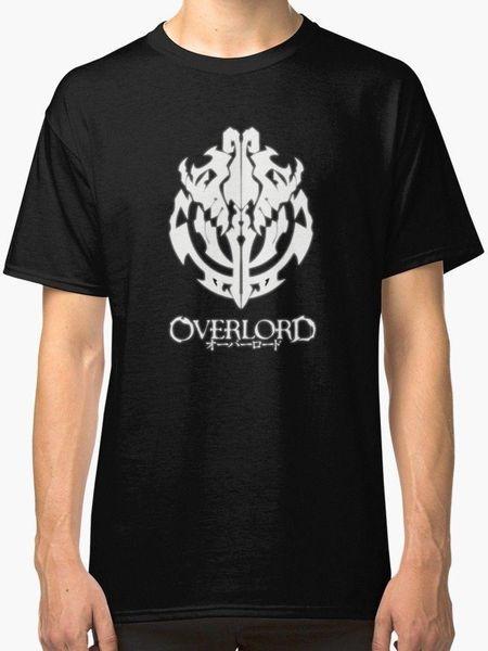 Overlord Anime - Guild Amblemi - Ainz Ooal Kıyafeti Erkek Siyah Tişört S-2XL