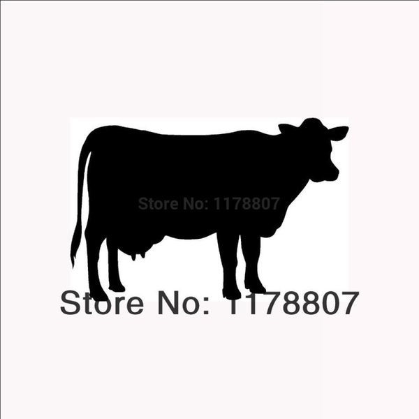 HotMeiNi Wholesale 20pcs/lot Cow Silhouette Sticker For Car Rear Windshield Truck SUV Bumper AutoCanoe Die Cut Vinyl Decal 8 Colors