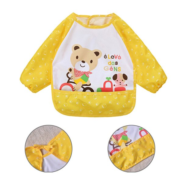3dd97ba89ffc91 Baby-Angebote Langarm-modische und niedliche rückwärts Baby Lätzchen  Wasserdichte Lätzchen Kinder Fütterung Schürze