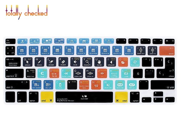 """Propellerhead Reason Spanish Hotkey Function Silicone Keyboard Cover Protector Skin For Macbook Air Pro Retina 13""""15""""17EU/US"""
